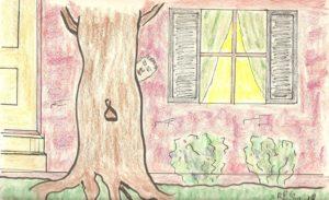 Awkward Spiral: Avoiding the Neighbors by Hiding Behind a Tree